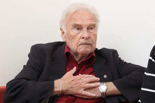 Luděk Munzar si nenechal ujít den otevřených dveří Českého rozhlasu.