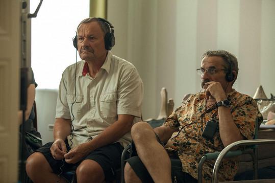 Režisér Miroslav Krobot se scenáristou Lubomírem Smékalem