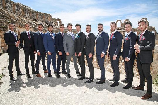 Focení obleků v koloseu v El Džemu.
