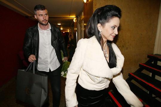 Lucie Bílá dorazila po boku přítele Radka na koncert Marty Kubišové.