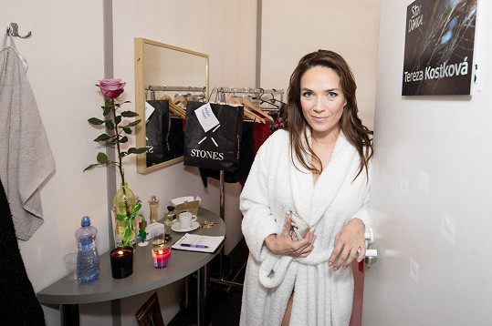 Tereza Kostková ve své šatně