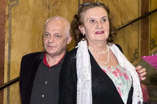 Bob Klepl s kolegyní Evou Holubovou.