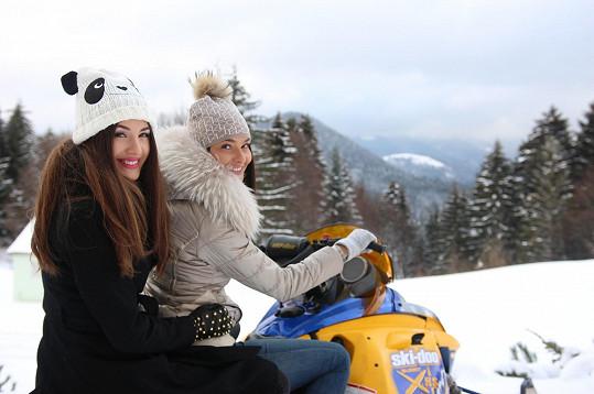 Nechyběla jízda na sněžném skútru.