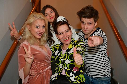 S Annou Sováčkovou, Nelly Řehořovou a Míšou Dolinovou