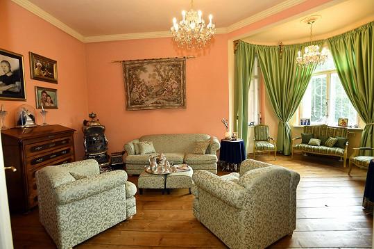 K obývacímu pokoji mají Osmany s manželem v domě nejvřelejší vztah.