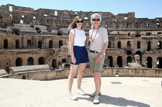 S dcerou si užily výlet do colosea v El Jemu.