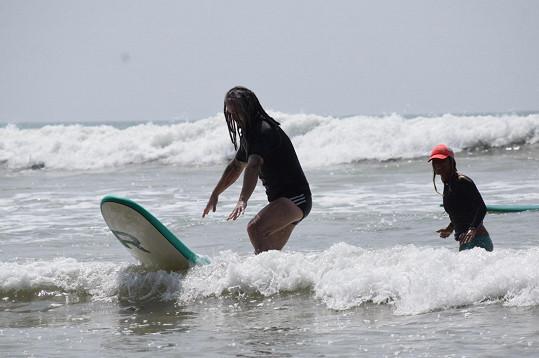Pepa Bolan se učil surfovat.