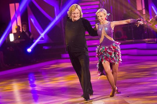 Lukáš s tanečnicí Lucií Hunčárovou