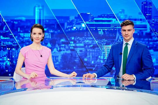 Gabriela Lašková a Marek Kafka jsou novou zpravodajskou dvojicí Hlavních zpráv.