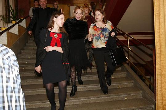 Dagmar Havlová dorazila do hlavního sálu téměř jako poslední.