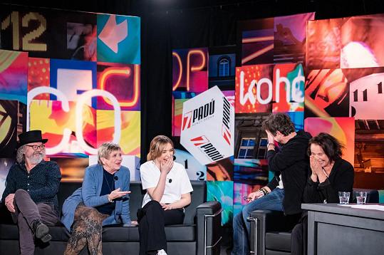 Obermaierová byla hostem talk show 7 pádů Honzy Dědka.