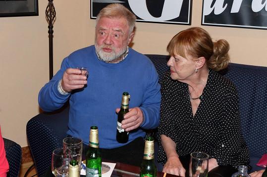 Jana Šulcová a Zdeněk Dušek po představení