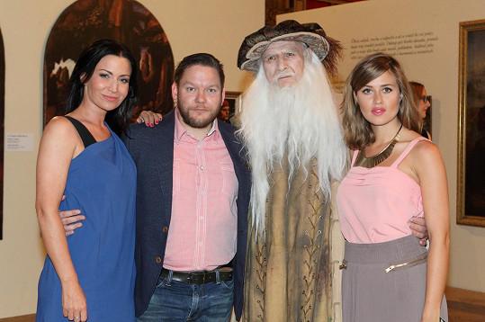 Gábina moderovala zahájení výstavy o da Vincim.