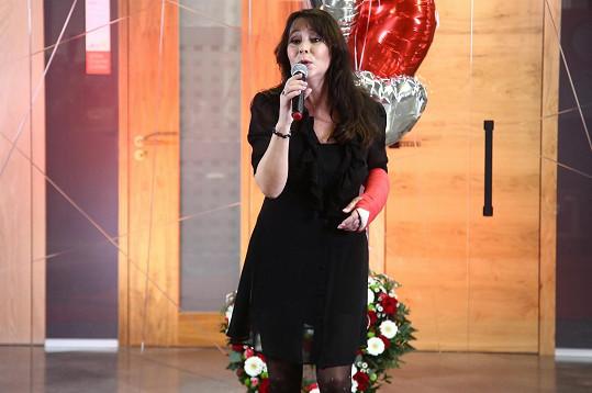 Heidi na vystoupení na valentýnském koncertu pro nadaci Český mozek, který se vysílal online.