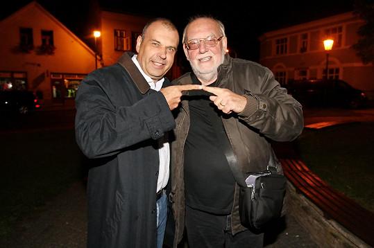 S kolegou Petrem Rychlým