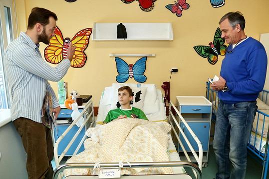 Herci navštívili nemocnici v Hradci Králové.