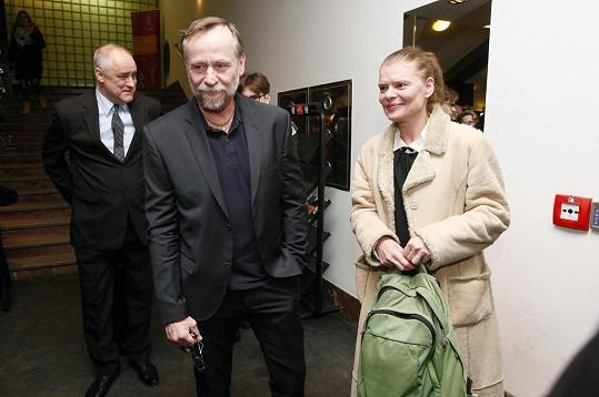 Na předávání se potkal s kolegyní Zuzanou Bydžovskou.