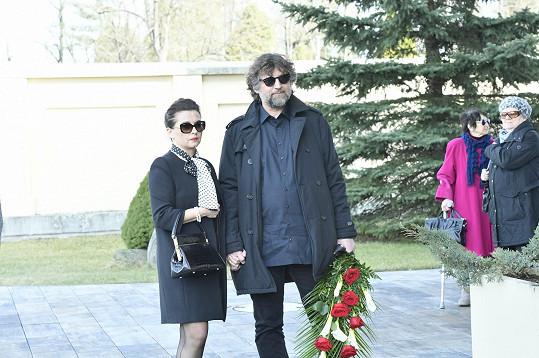 Mezi prvními smutečními hosty dorazili Dana Morávková a Petr Malásek.
