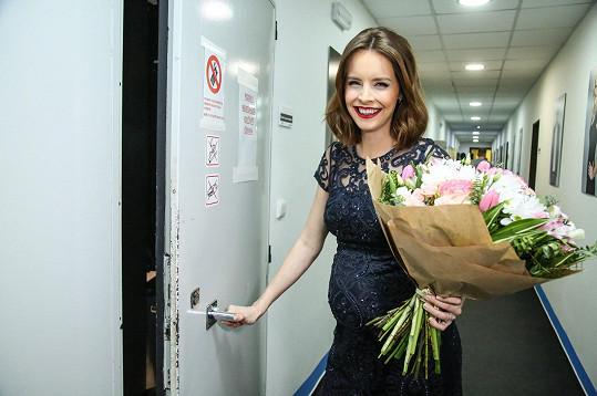 Gabriela Lašková včera naposledy moderovala zprávy před porodem.