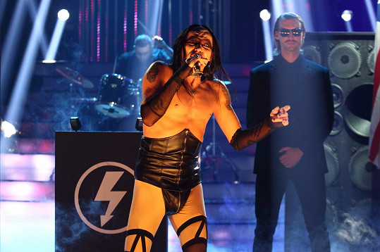 Bořek Slezáček coby Marilyn Manson.