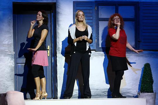 S kolegyněmi Jarkou Kretschmerovou a Alenou Antalovou při zkoušce