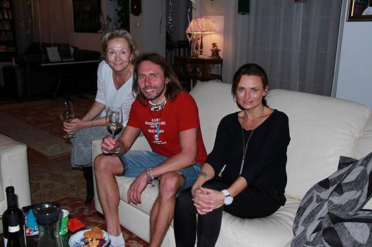 Mezi hosty z řad dospěláků byli i Bára Basiková a moderátor televize Stream Jan Tuna.