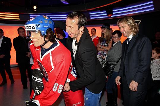 Přítomnost tenisty Radka Štěpánka se neobešla bez legrácek.