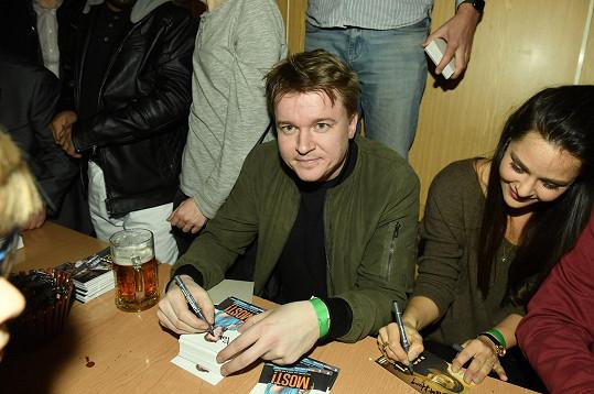 Petr Kolečko napsal scénář k Mostu!. Na snímku s Dominikou Býmovou.