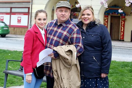 Anastázie Chocholatá, Václav Kopta a Lucie Polišenská si zahrají jednu rodinku.