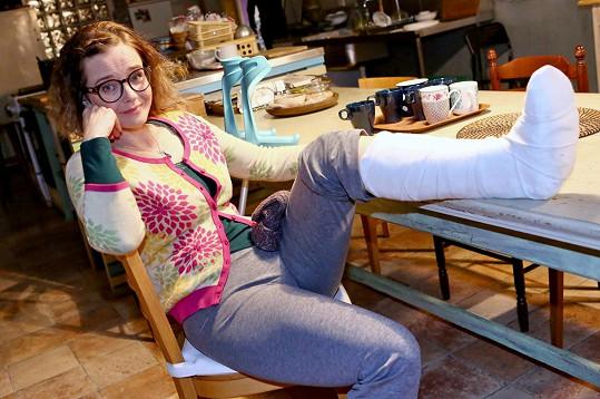Herečka Kristýna Kociánová si během sáňkování přivodila úraz a musela na operaci.