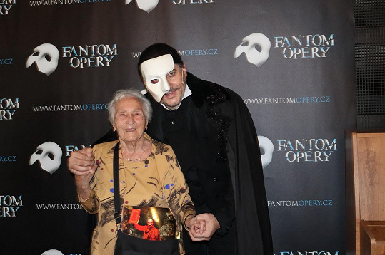 Marian byl potěšen, že jeho fanynkou je i tato dáma.