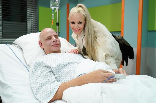 Herečka Jana Fabiánová si zahrála v nemocničním prostředí, které jí připomnělo doby, kdy pracovala v léčebně dlouhodobě nemocných.