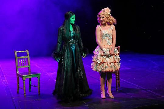 S Elis Ochmanovou jako Eplhabou na press show v divadle GoJa Music Hall