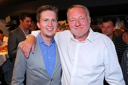 Luděk Sobota s vnukem Tomášem