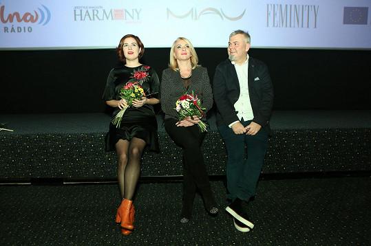 S kolegyní Zdenou Studenkovou a režisérem Tomášem Svobodou