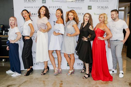 Patricie s Dominikem se svými modely a modelkami