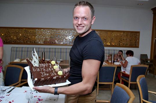 Honza v Tunisku oslavil 34. narozeniny.