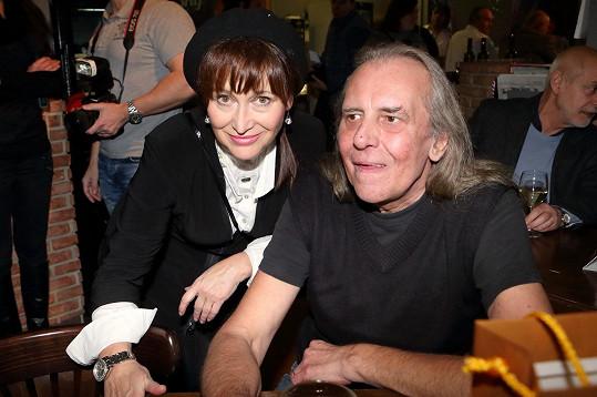 Víťa Vávra s Petrou Černockou