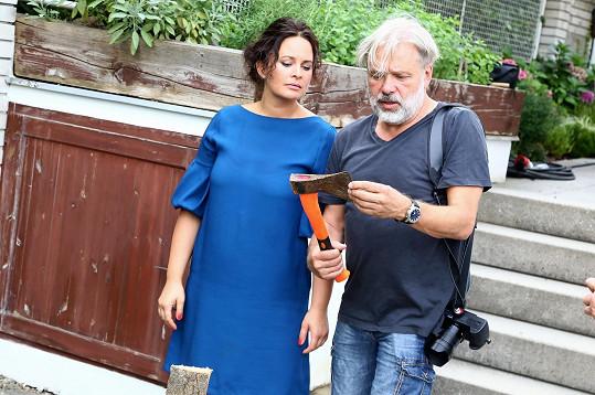 Jitka Čvančarová s režisérem Radkem Bajgarem