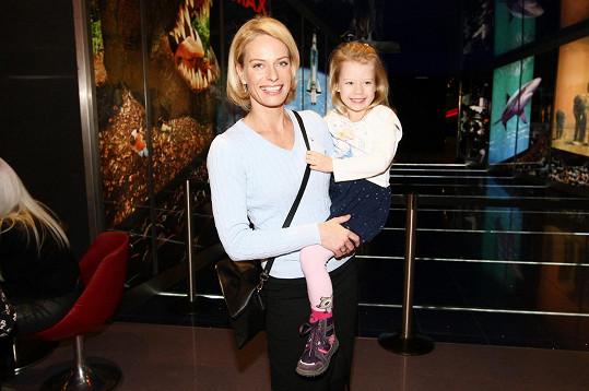 Pozvání využila i Kristina Klouboková s dcerou Jasmínkou.