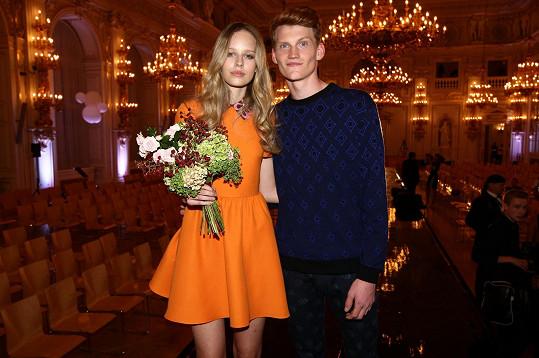 Vítězové Schwarzkopf Elite Model Look Aneta a Kristian krátce po vyhlášení výsledků ve Španělském sále