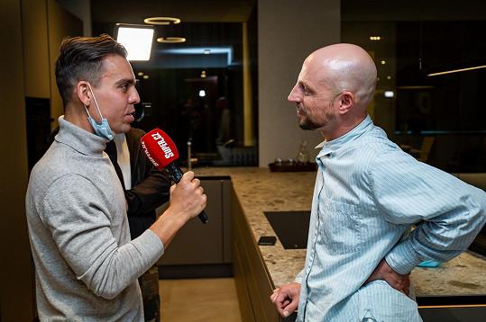 Během rozhovoru pro Super.cz na jedné z prvních společenských akcí po uvolňování opatření.