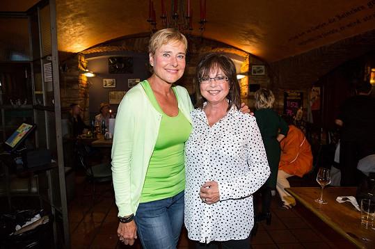 Na akci se setkala také s kolegyní Marií Tomsovou.
