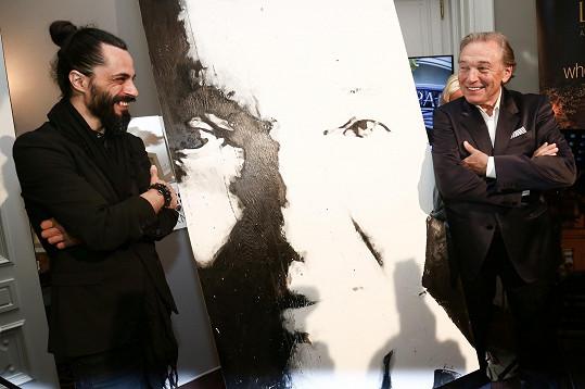 Oba umělci s výsledným dílem