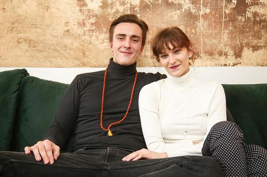 Bára Jánová s přítelem Vítězslavem Bečkou