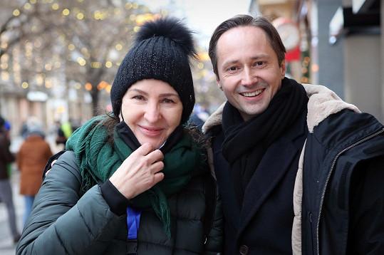 Režisérka Irena Pavlásková s Jaroslavem Pleslem