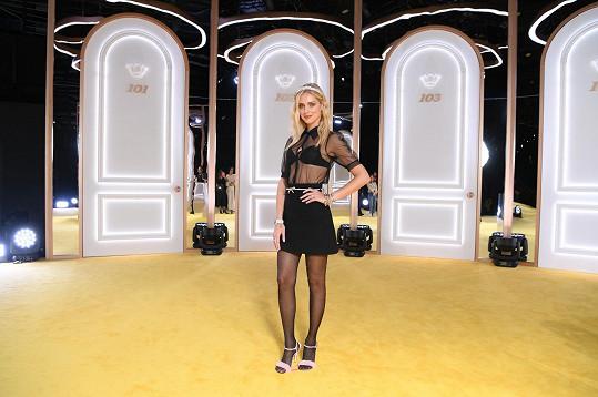 Chiara Ferragni byla stejně jako Zorka čestným hostem módní show.
