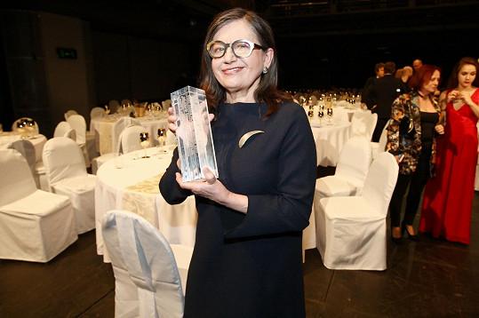 Kronerová ocenění získala za titulní roli začínající otužilkyně ve filmu Bába z ledu.