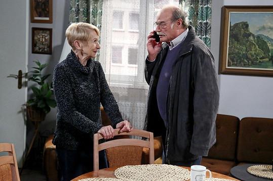 S Pavlem Novým se před kamerou potkala po 40 letech.