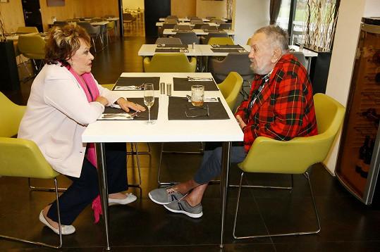 Břetislav Staš je pacientem centra Alzheimer Home.